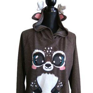 Funzietime FUNZIE TIME Sweatshirt Deer Hoodie (XL)